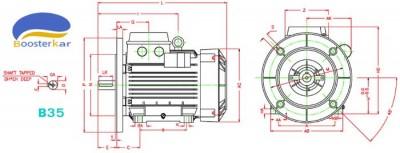 ابعاد-موتور-تک-فاز-خازن-دائم-موتوژن