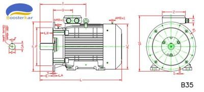 ابعاد-موتور-چدنی-فلنج-دار-180-280