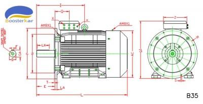 ابعاد-موتور-چدنی-فلنج-دار-315-355