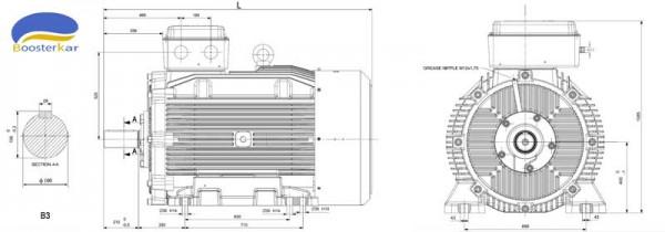 ابعاد-موتور-چدنی-موتوژن-فریم-400